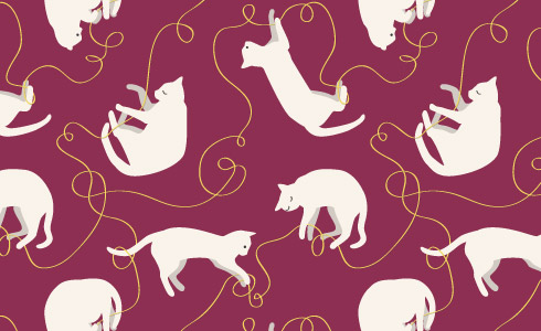 Cat Pattern Red 2560x1440 Ipad Retina Wallpaper Pictures to pin on